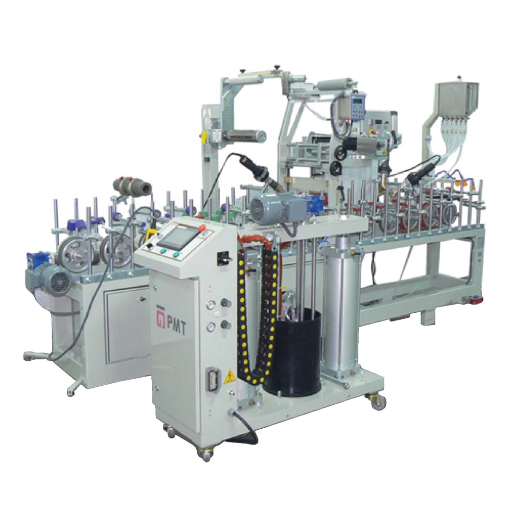 LM 300 W4 P ECONOMIC TYPE PUR HOTMELT GLUE PROFILE WRAPPING MACHINE