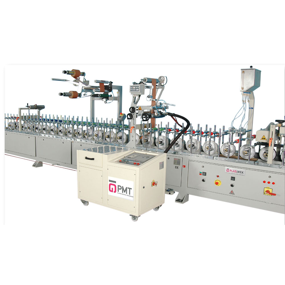 LM 300 P PUR HOTMELT PROFILE WRAPPING MACHINE