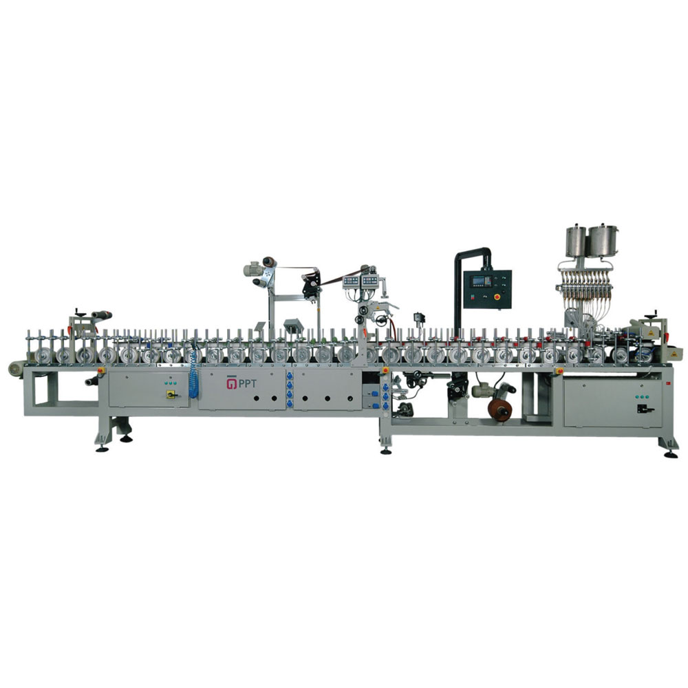 PUR HOTMELT DOUBLE SIDE PROFILE WRAPPING MACHINE