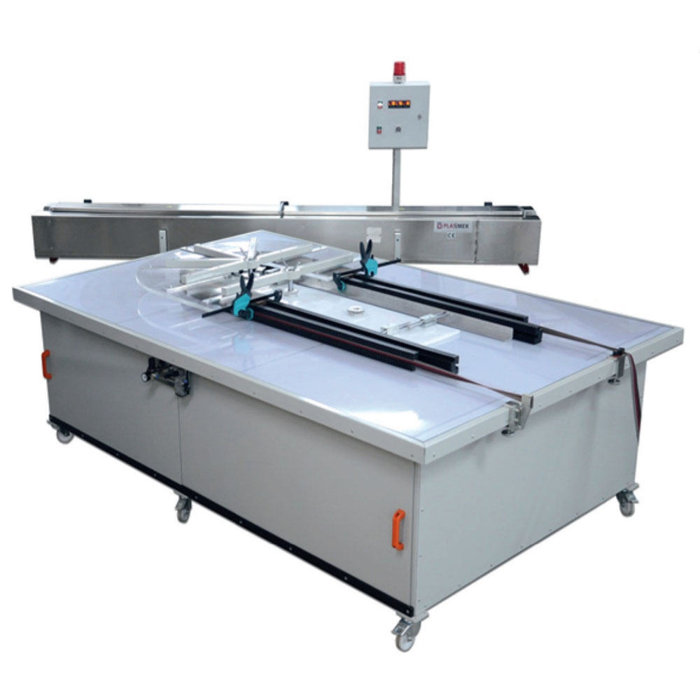 HABM 6000 HOT AIR PVC PROFILE BENDING MACHINE