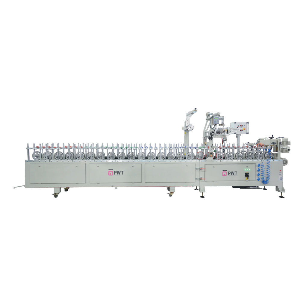 LM 400 P PUR HOTMELT GLUE PROFILE WRAPPING MACHINE WITH DETACHABLE BODY